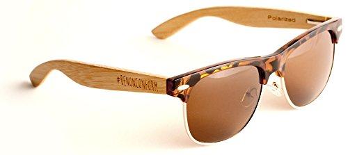 BeNotSpunky,MOREBOARDS Sonnebrille Holz Damen Herren Vintage Wayfarer Stil Bambus Holz Fashion Sonnenbrille Casual