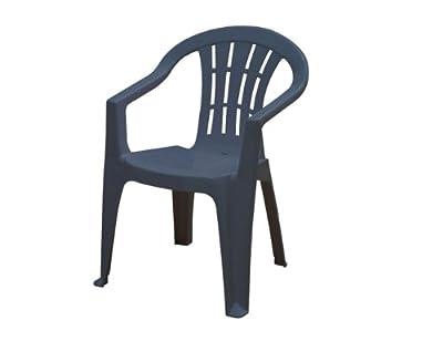 JARDIN 162280 Cuba Stapel-Sessel niedrig, blau Vollkunststoff