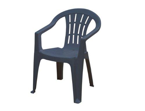 Produktabbildung von JARDIN 162280 Cuba Stapel-Sessel niedrig, blau Vollkunststoff