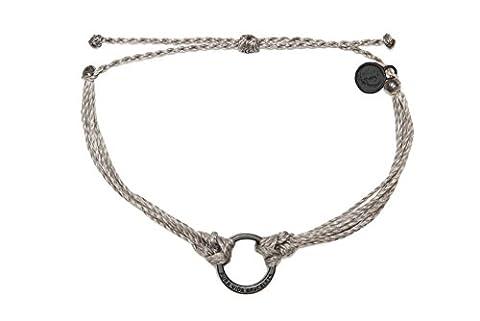 Pura Vida Jewelry Bracelets – Black Circle Grey Bracelet – Waterproof and Authentically