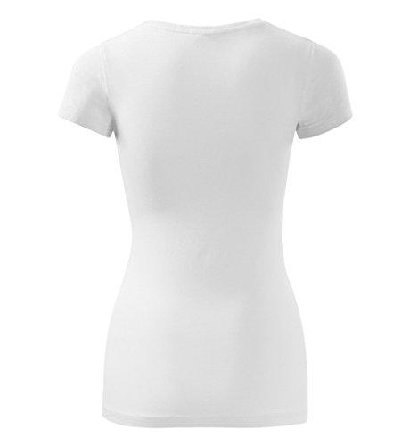 Dress-O-Mat Damen T-Shirt Shirt rundhals klassisch Tailliert Weiß