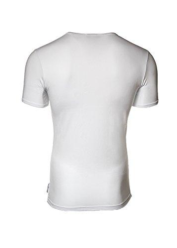 BIKKEMBERGS Herren T-Shirt BIPACK, 2er Pack Rundhals Logo T-Shirts - Farbwahl Weiß