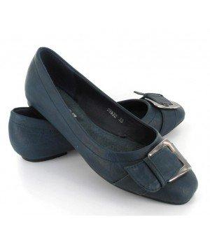 Chaussure Bas Prix - Ballerines femme bleues - DV622-7 Bleu