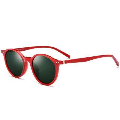 Linshenyoulu Neue Platte polarisierte Sonnenbrille männer und Frauen Retro runde Sonnenbrille Star mit uv Schutz Sonnenbrille