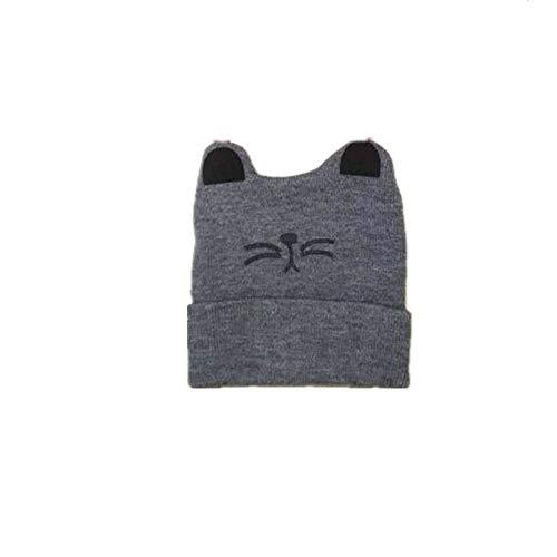 Easy Go Shopping Bonnet tricoté pour Enfants Toddler Earflap Beanie Chaud pour l'automne Hiver. (Couleur : Gris)