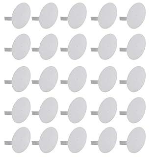 Meister Federdeckel weiß - Geeignet für Ø 70 mm Abzweigdosen - 25 Stück - Für einen bündigen Abschluss mit der Wand/Dosendeckel für Gerätedeosen/Spreizdeckel zum Einhaken/Klemmdeckel / 7460310