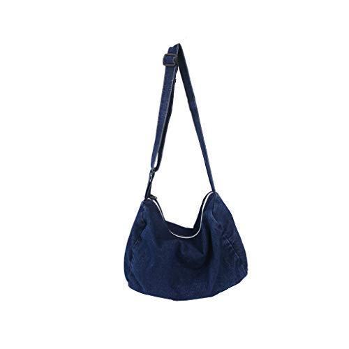 Cooljun Ausverkauf! Art- und Weisedame Wild Denim Normallack-große Kapazitäts-Schulter-Beutel-Einkaufstasche -
