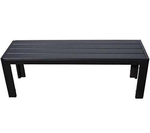 KMH, 2,5er Holzimitat Gartenbank 'Tuco' 135 cm ohne Rückenlehne (B-Ware) (#106153)