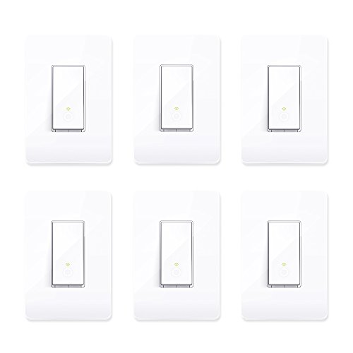TP-Link Smart HS200 WiFi Light Switch Cover Compatible w/Phone Control (6 Pack)