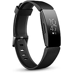 Fitbit Inspire HR, Bracelet pour la forme au quotidien avec suivi continu de la fréquence cardiaque, Noir