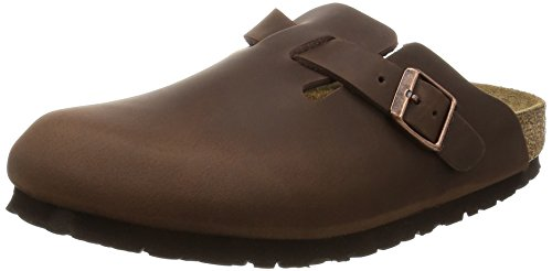 Birkenstock Boston 860133, Zoccoli unisex adulto, Marrone (Habana), EU 44 (stretta)