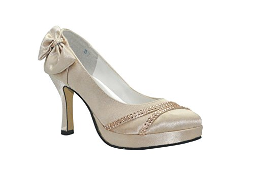 Sparkle Flat Silver Sandals (Kevin Fashion ,  Damen Modische Hochzeitsschuhe , Gold - gold - Größe: 39 1/3)