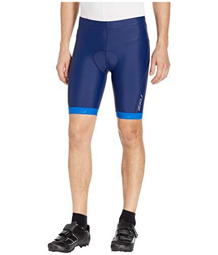 2XU Herren Active Tri Triathlon Segeln Bootfahren Wassersport Shorts Navy Lapis Blue Print - Easy Stretch