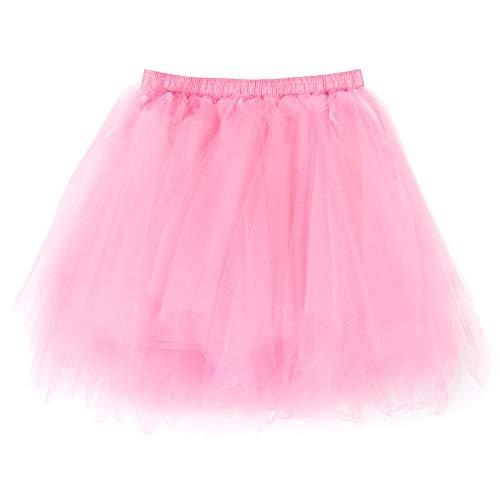 Andouy Damen Tutu Rock Tüll Mix Bunte Petticoat Ballett Tanz Organza Geschichteten Kostüm Dress-up sexy Größe ()