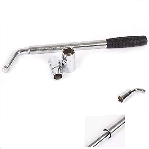 Kfz-Multifunktions-Reifenschlüssel, einziehbare Hülse Langer, arbeitssparender Wagenreifen-Ersatzschlüssel-Satz Werkzeug 17/19, 21/23 mm.