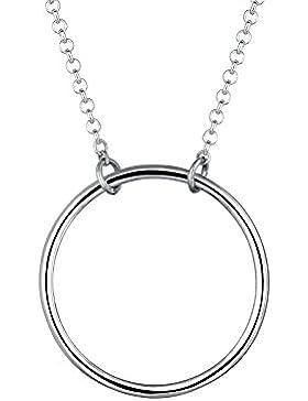 Elli Damen-Kette mit Anhänger Kreis Basic 925 Silber