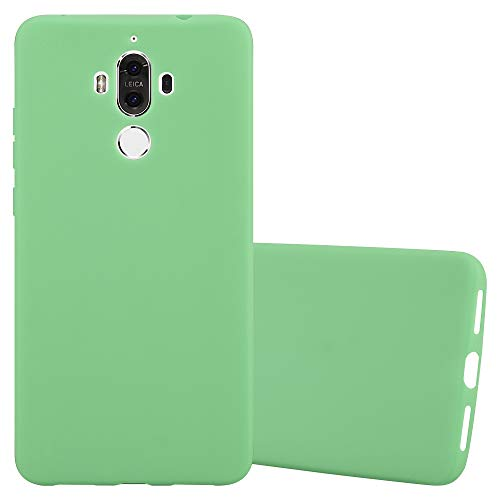 Cadorabo Hülle für Huawei Mate 9 - Hülle in Candy Pastell GRÜN - Handyhülle aus TPU Silikon im Candy Design - Silikonhülle Schutzhülle Ultra Slim Soft Back Cover Case Bumper (Active S5 Skin Galaxy Für)