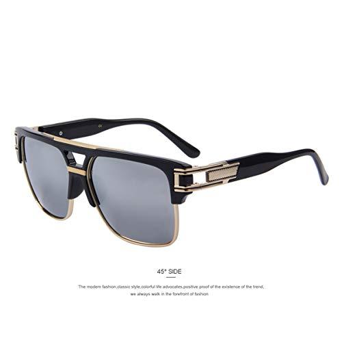 FGRYGF-eyewear Sport-Sonnenbrillen, Vintage Sonnenbrillen, Men Luxury Brand Sunglasses Vintage Oversize Square Sun Glasses Women Shades S'8072 C05 Silver