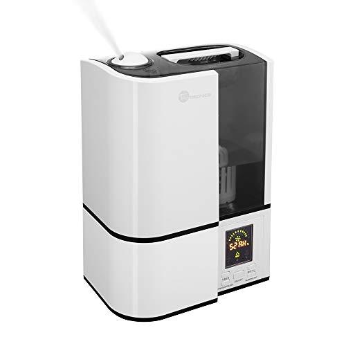 TaoTronics humidificador de aire casa bebé bebé 4L, humidificador, humidificador de aire cámara hasta 30m², gris