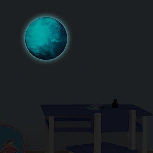 Großen Schildkröten Ninja Die (Xshuai 30 x 30cm Moth-Proofing Feuchtigkeitsfeste 3D Große Astronomie Earth Fluorescent Wall Sticker Abnehmbare Glow In The Dark Sticker)