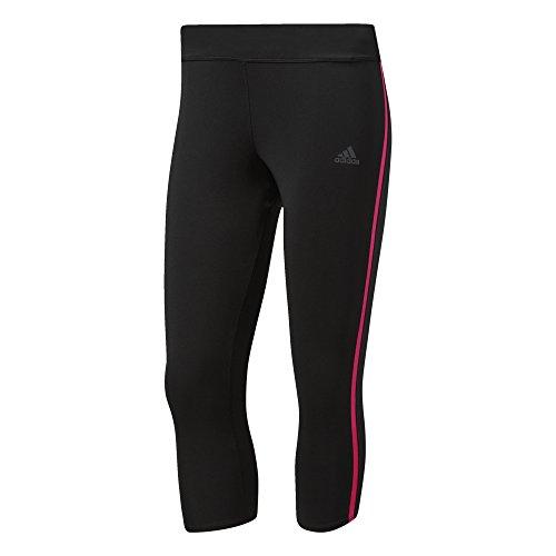 adidas Damen Response 3/4 Tights, Black/Shock Pink, XS