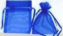 Click Down 120 pcs Bleu Organza Cordon de serrage Pouches Bijoux pour fête cadeau de mariage Sacs 8*11 cm