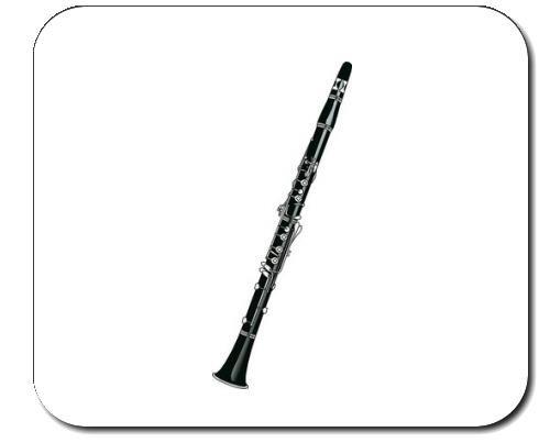 Mauspad mit der Grafik: Klarinette