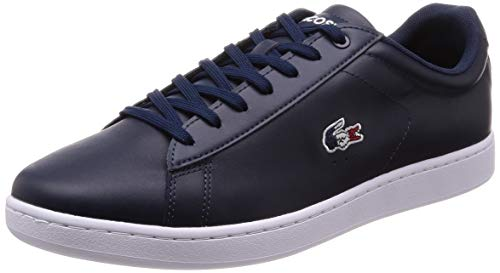 Lacoste Carnaby EVO 119 7 SMA, Zapatillas para Hombre, Azul Marino/Blanco/Rojo