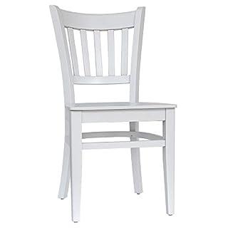 abritus Set 2 Stühle Stuhl Esszimmerstuhl Buche massiv weiß lackiert »T002«