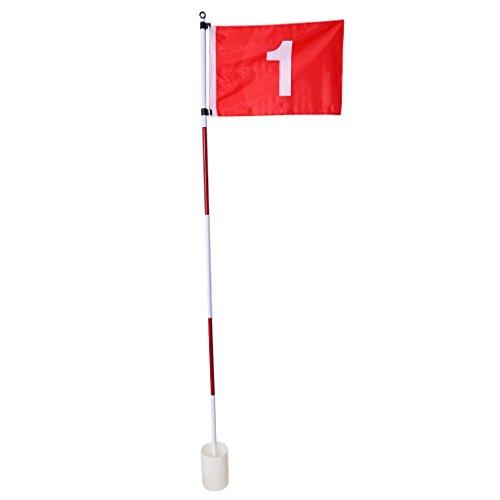 Homyl Golffahne mit Nr. 1 Golf Fahne mit Golfloch Golf Übungshilfe