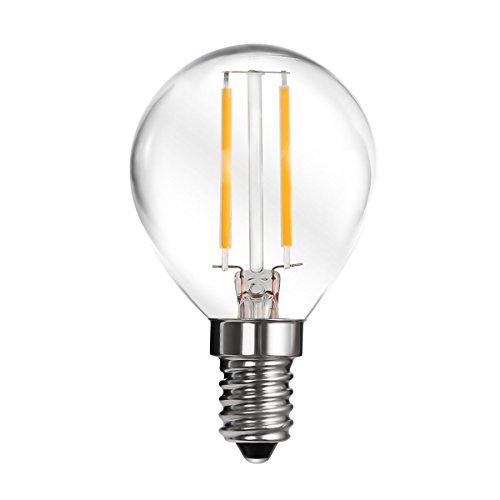 LE 2W P45 E14 Candelabro LED , Omnidirezionale, Pari a Lampada Incandescenza da 25W, 270lm, Luce Bianca Calda, 2700K