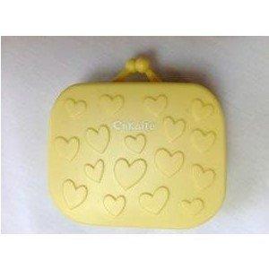 Sac à main jaune Lentilles de contact Kit de voyage Étui avec pince à épiler et miroir intégré
