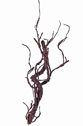 artplants Set 12 x Künstlicher Korkenzieherweide Zweig JACE, braun-rot, 55cm