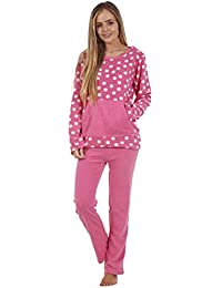 f6cc05318f454 Anna Klein Ladies Stunning Printed Fleece Pyjama Set Womens PJ's Winter  Warm Nightwear