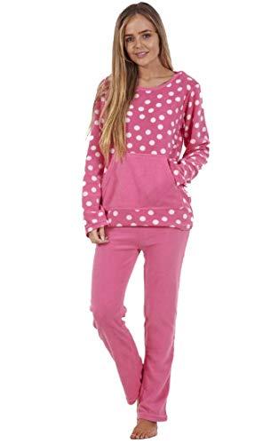Conjunto de Pijama para Mujer - Forro Polar - Estampado - Rosa - M - E