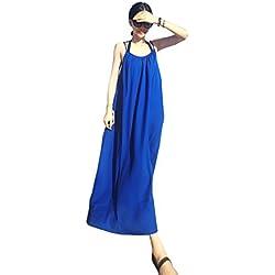 Years Calm Damen Neckholder Kleid Gr. One size, blau