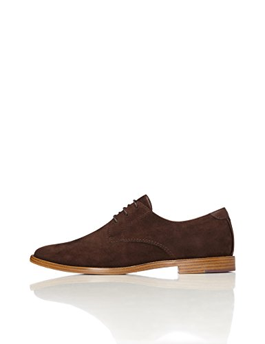 FIND Men's Derby in Classic Cut with Lace Up, Brown (Brown), 9 UK