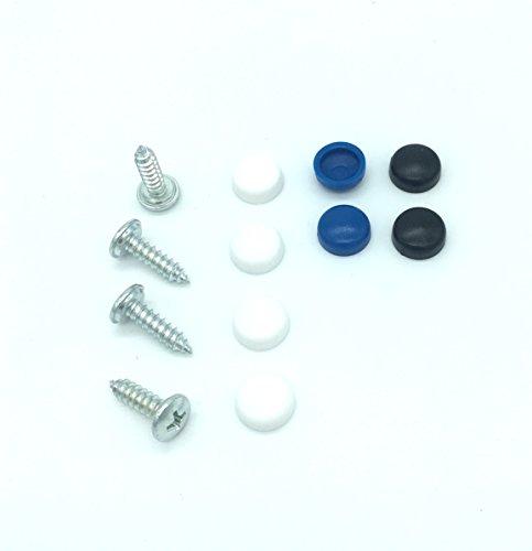 Preisvergleich Produktbild Kennzeichenschrauben Schrauben-Set 4,8 x 16mm inkl. Abdeckkappen