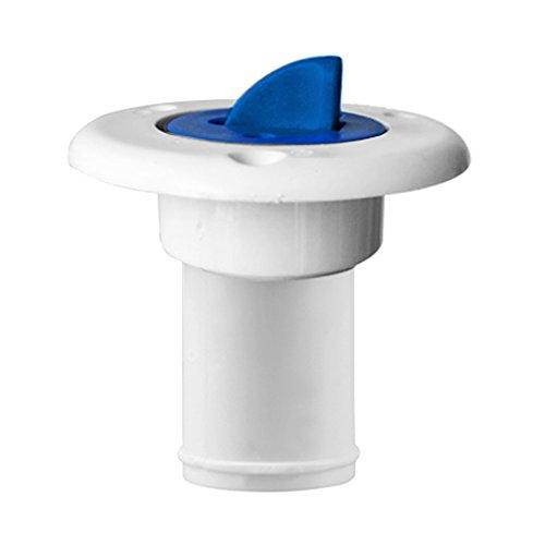 Baoblaze Tankstutzen Einfüllstutzen passend für Boot Ø 38mm Wasser Treibstoff Tank, Weiß, langlebig - 1 Stück - Weiß Blau (Tank Einfüllstutzen)