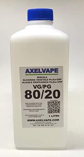 AXELVAPE VG/PG 50/50, 60/40, 70/30, 80/20 USP, PH EUR 1 LITRO LT (80/20)