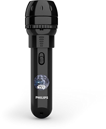 Philips LED Star Wars 4.5 V Childrens Projector Torch and Night Light, 0.1 W - Black