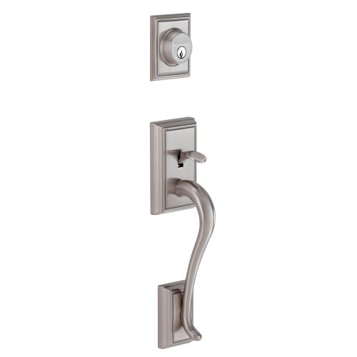 Schlage F58 ADD 620 Addison Exterior Handleset with Deadbolt, Antique Pewter (Exterior Half Only) by Schlage Lock Company -