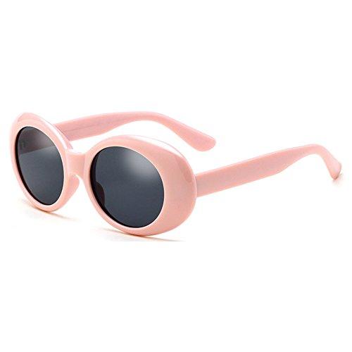 Deylay oval occhiali da sole uomo donna retro style rotondo glasses color 4