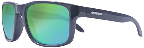 Ocean Sunglasses - Blue Moon - lunettes de soleil - Monture : Noir Mat - Verres : Revo Vert (19202.46)