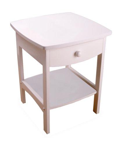 Winsome Wood Ende Tisch/Nacht stehen, mit Schublade und Ablage, Buchenholz, weiß, FURNITURE