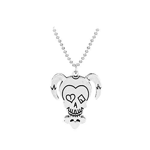 Hzzzzz Alloy Fashion Necklace Clown Female Skeleton Pattern Pendant Model N2