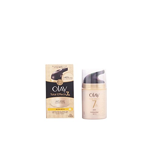 Olay Total Effects 7 en 1, Crema diurna facial (anti-edad, SPF15 piel seca) - 40 ml.