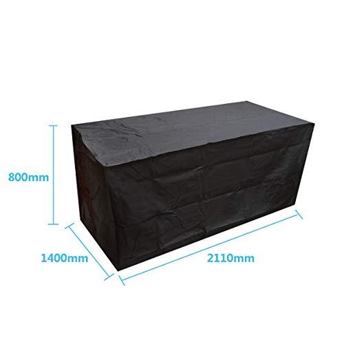 dDanke Poliestere 210D Black Patio Set Copertura Impermeabile Copertura per mobili da Giardino Esterno Rettangolare da Giardino Divano tavoli mobili Copertura (210x 140x 80cm)