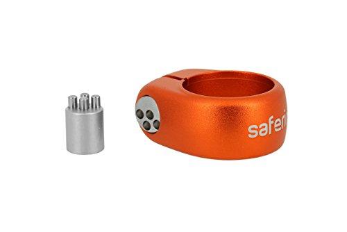 IXOW SEAT POST CLAMP LOCK safering Key Code 34 9 mm, Orange