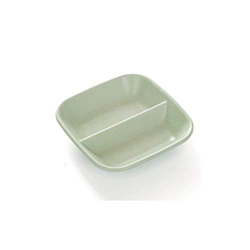 Fruit-Bowls Serving Dish Seasoning Dish Multi Purpose Drain Dish Vinegar Tableware Dinner Plates Sauce Dip Dish Wheat Straw Calvings Sauce,Light Green Green Square Dinner Plate